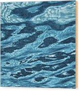 Just Blue  Wood Print