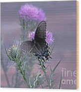 Just Fluttering By Wood Print