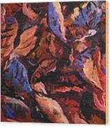 Just Leaf Wood Print by W  Scott Fenton