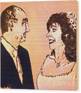 Just Married Wood Print