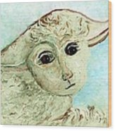 Just One Little Lamb Wood Print