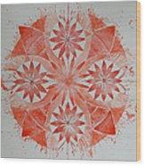 Just Red Mandala Wood Print