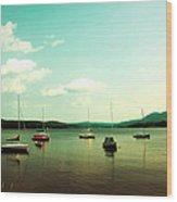 Just Sail Boats Wood Print