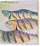 Just Sardines Wood Print