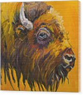 Just Sayin Bison Wood Print