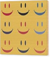 Just Smile Wood Print