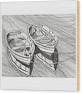 Two Dinghy Friends Just The Two Of Us Wood Print