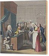 Justice Triumphs, Illustration Wood Print
