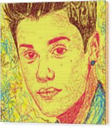 Justin Bieber In Line Wood Print by Kenal Louis