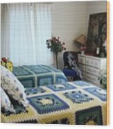 Justine Cushing's Guest Bedroom Wood Print