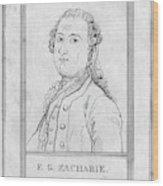 Justus Zachariae (1726-1777) Wood Print