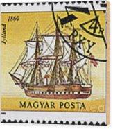 Jylland Steam And Sailing Ship Wood Print