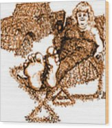 K Is For Kudzu Wood Print