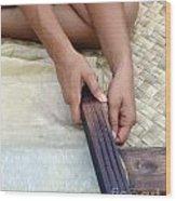 Ka Hana Kapa Wood Print