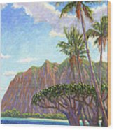 Kaaawa Beach - Oahu Wood Print