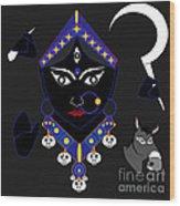 Kaalraatri Wood Print by Pratyasha Nithin
