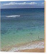 Kaanapali Ocean Aerial Wood Print