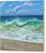 Kaanapali Shorebreak Maui Wood Print