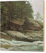 Kaaterskill Falls In Autumn, Catskill Wood Print