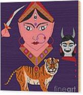 Kaatyayani Wood Print by Pratyasha Nithin