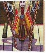 Kabuki Chopsticks 1 Wood Print