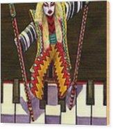 Kabuki Chopsticks 2 Wood Print