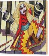 Kabuki Chopsticks 3 Wood Print