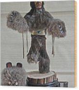 Kachina Doll Bear Head Removed Wood Print