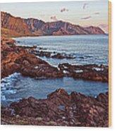 Ka'ena Point Oahu Sunset Wood Print