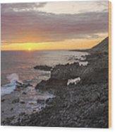 Kaena Point Sea Arch Sunset - Oahu Hawaii Wood Print