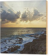 Kaena Point State Park Sunset 3 - Oahu Hawaii Wood Print