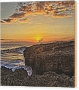 Kaena Point Sunset Wood Print