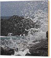 Ka'ena Point Surf Wood Print