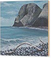 Kahakuloa Peak Maui Wood Print