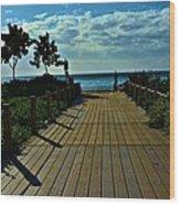 Kahanapali Beach Walk Wood Print