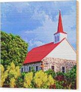 Kahikolu Congregational Wood Print