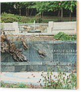 Kahlil Gibran Memorial Garden Wood Print