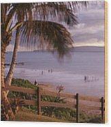 Kai Makani Hoohinuhinu O Kamaole - Kihei Maui Hawaii Wood Print by Sharon Mau