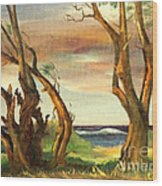 Kaina Point - Oahu Hi. Wood Print