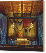 Kaiser Wilhelm Church Organ Wood Print