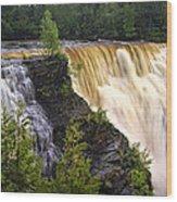 Kakabeka Falls On The Kaministiquia River Wood Print