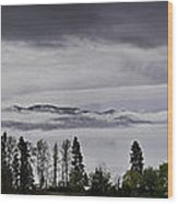 Kal Lake In The Mist Wood Print by Rod Sterling