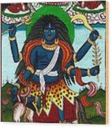 Kal Ratri Wood Print by Ashok Kumar
