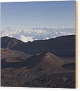 Kalahaku Overlook Haleakala Maui Hawaii Wood Print
