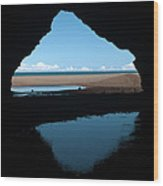 Kalalau Cave Wood Print by Brian Harig
