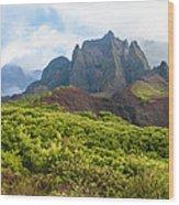 Kalalau Valley - Kauai Hawaii Wood Print