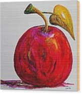 Kaleidoscope Apple -- Or -- Apple For The Teacher  Wood Print by Eloise Schneider