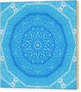 Kaleidoscope Blues Wood Print by Paulette Maffucci