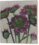 Kaleidoscope Bouquet Wood Print