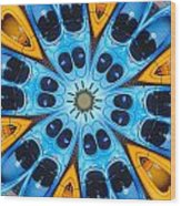 Kaleidoscope Canoes Wood Print